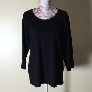 Rebecca Malone Black Top - Size 1X (New!)